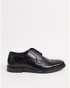 Черные кожаные туфли на шнуровке Base london