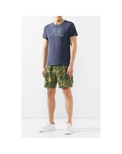 Хлопковая футболка с принтом Rrl