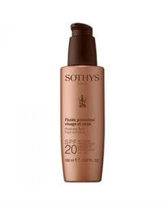 Молочко с SPF20 для лица и тела Protective Fluid Face And Body SPF20 Moderate Protection UVA UVB 160 Sothys (франция)