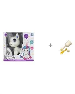 Интерактивная игрушка Robo Pets Щенок и деревянная игрушка RNToys Поймай мяч 1toy