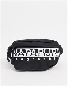Черная сумка кошелек на пояс Napapijri