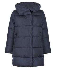 Черное пуховое пальто с высоким воротником Freedomday