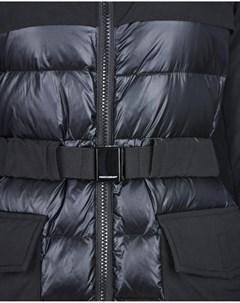 Комбинированное пальто с капюшоном Freedomday