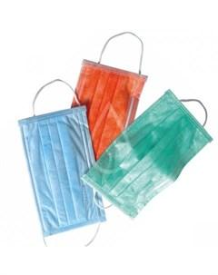 маска медицинская трехслойная одноразовая 1 touch эконом голубая 50 шт Одноразовая продукция для салонов красоты