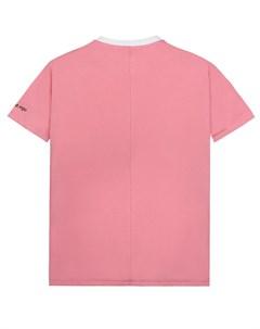 Розовая футболка с надписью детская Scrambled ego