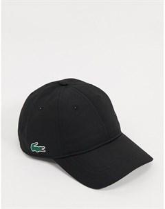 Черная бейсболка с логотипом сбоку Lacoste