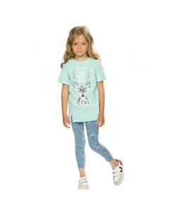 Комплект для девочки туника и лосины GFATL3197 Pelican