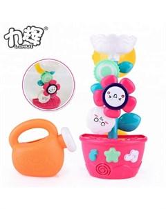 Игрушка для ванной Мельница горка Цветок в горшочке с лейкой Junfa
