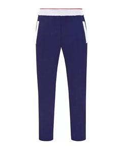 Спортивные брюки из плотного джерси с контрастной окантовкой Bertolo cashmere