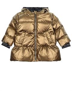 Стеганое пальто пуховик с капюшоном детское Givenchy