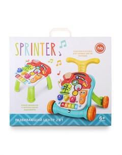 Каталка ходунки Sprinter c развивающим центром Happy baby