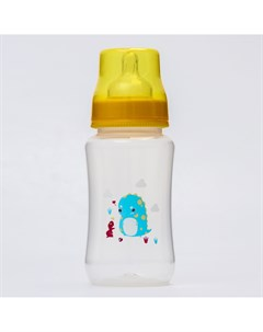 Бутылочка для кормления 320 мл широкое горло цвет желтый Крошка я