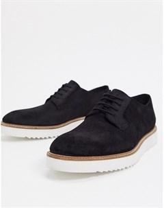 Черные кожаные туфли на шнуровке Clarks