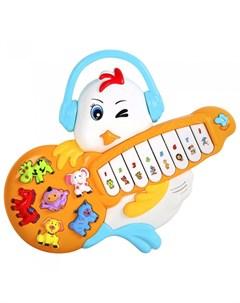 Музыкальный инструмент Пианино обучающее Цыпленок 42 звука Smart baby