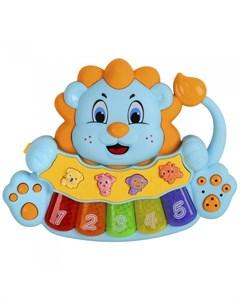 Музыкальный инструмент Пианино обучающее Львенок 36 звуков Smart baby