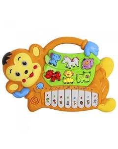 Музыкальный инструмент Пианино обучающее Обезьяна 42 звука Smart baby