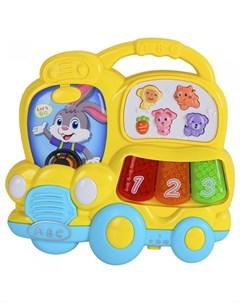 Музыкальный инструмент Пианино обучающее Автобус 29 звуков Smart baby