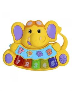 Музыкальный инструмент Пианино обучающее Слоненок 36 звуков Smart baby