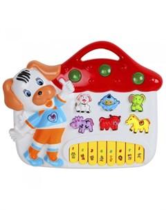 Музыкальный инструмент Пианино обучающее Домик 42 звука Smart baby