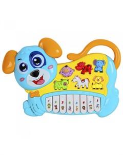 Музыкальный инструмент Пианино обучающее Собака 42 звука Smart baby