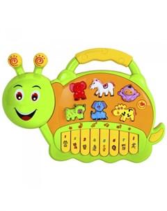 Музыкальный инструмент Пианино обучающее Гусеница 42 звука Smart baby