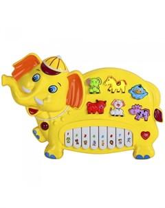 Музыкальный инструмент Пианино обучающее Слон 42 звука Smart baby