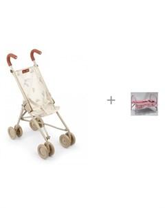 Коляска для куклы Twiglet и кроватка для куклы Наша Игрушка с аксессуарами для сна Happy baby