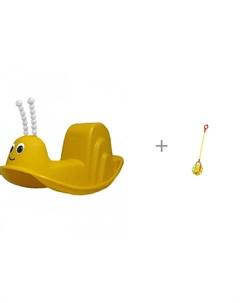 Качалка Улитка и каталка игрушка Совтехстром У743 Pic`n mix