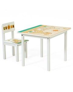 Стул детский Disney baby 105 S Король Лев для комплекта детской мебели белый Polini-kids