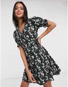 Платье мини с запахом и цветочным принтом Pimkie