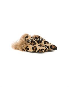 Слиперы с леопардовым принтом Gallucci kids