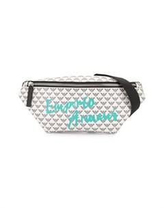 Поясная сумка с логотипом Emporio armani kids
