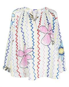 Блузка с принтом Mira mikati