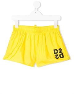 плавки шорты с логотипом D2 Dsquared2 kids
