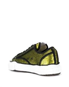 Кроссовки на шнуровке с вышивкой пайетками Maison mihara yasuhiro