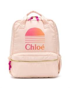 Парусиновый рюкзак с логотипом Chloé kids