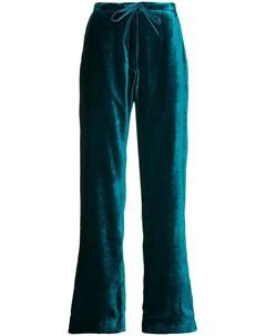 Бархатные брюки в пижамном стиле Mira mikati