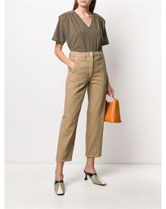 Укороченные джинсы с завышенной талией Lemaire