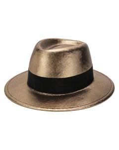 шляпа трилби с эффектом металлик Saint laurent