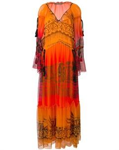 Длинное платье с кисточками Alberta ferretti