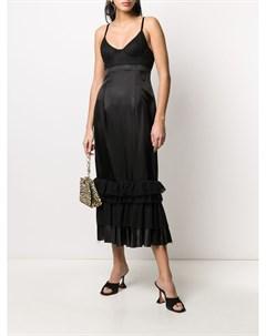 Платье комбинация с кружевом Brock collection