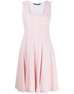 Платье с U образным вырезом без рукавов Antonino valenti