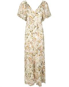 Платье с пышными рукавами и цветочным принтом Co