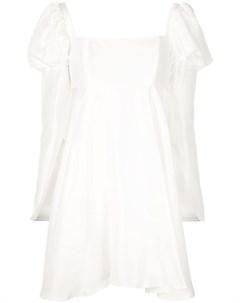 Расклешенное платье с объемными плечами Macgraw