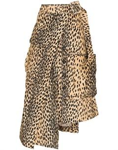 Юбка миди асимметричного кроя с леопардовым принтом Jacquemus