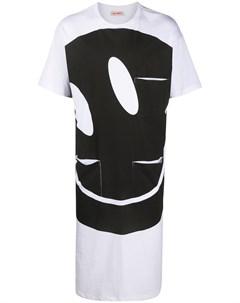 Длинная футболка с принтом Smiley Raf simons