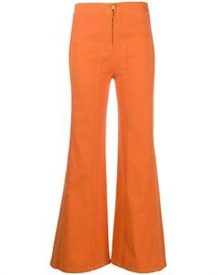 Расклешенные брюки с завышенной талией Alberta ferretti