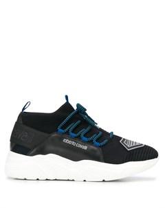 сетчатые кроссовки с логотипом Roberto cavalli