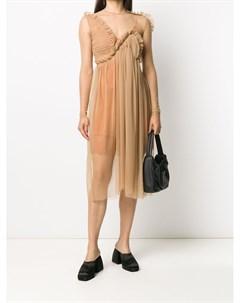 Прозрачное платье с оборками Preen by thornton bregazzi