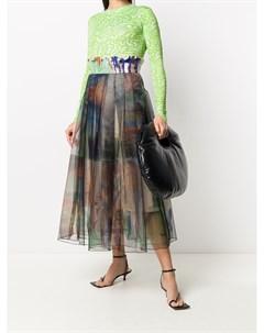 Многослойная юбка с принтом и складками Quetsche